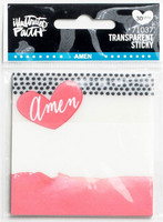 Illustrated Faith - Amen Transparent Sticky Notes