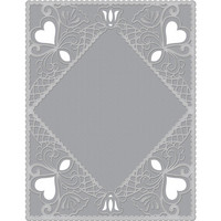Spellbinders - Cutting Embossing Folders, Diamond Lace Frame