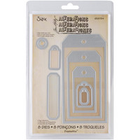 Sizzix - Framelits Dies By Tim Holtz, Stanssisetti, Tag Collection