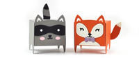 Lawn Fawn - Tiny Gift Box Raccoon and Fox Add-on, Stanssisetti