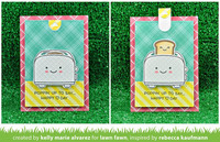 Lawn Fawn - Let's Toast Pull Tab Add-on, Stanssisetti
