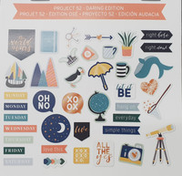Project Life - Ephemera Die-Cut Shapes, Daring Edition, 40 osaa