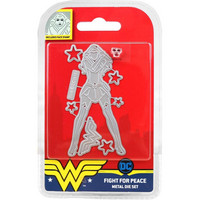 DC Comics - Wonder Woman Die and Face Stamp Set, Fight For Peace, Stanssisetti