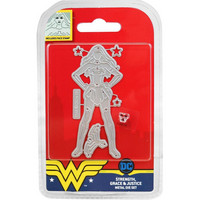 DC Comics - Wonder Woman Die and Face Stamp Set, Strength, Grace & Justice, Stanssisetti