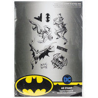 DC Comics - Wonder Batman Stamp Set, Leimasetti