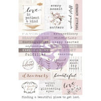 Prima Marketing - Pretty Pale Ephemera Cardstock & Sticker Sheet, 65 osaa