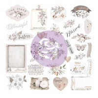 Prima Marketing - Pretty Pale, Ephemera Cardstock & Acetate Die-Cuts, 40 osaa