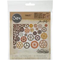 Sizzix - Thinlits Dies By Tim Holtz, Stanssisetti, Gearhead