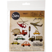 Sizzix - Thinlits Dies By Tim Holtz, Stanssisetti, Commute Cityscape