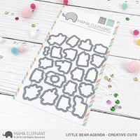 Mama Elephant - Little Bear Agenda, Creative Cuts, Stanssisetti