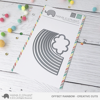 Mama Elephant - Offset Rainbow, Creative Cuts, Stanssi