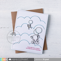 Mama Elephant - Cloudy Day Cover, Creative Cuts, Stanssi