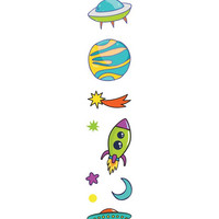 Paper House - Stickers To Go 4ft Roll, Space, Tarrasetti