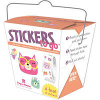 Paper House - Stickers To Go 4ft Roll, Cat Faces, Tarrasetti