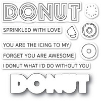 Poppy Stamps - Donut What I'd Do, Stanssi- ja leimasetti