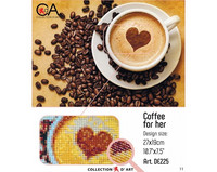 Collection D'Art - Coffee For Her, Timanttimaalaus, 27x19cm