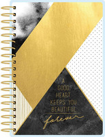 Paper House - Black and Gold Geometric 12 Month Mini Planner, Kalenteri