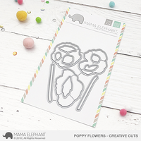 Mama Elephant - Poppy Flowers, Creative Cuts, Stanssisetti