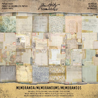 Tim Holtz - Idea-Ology Paper Stash Double-Sided Paper Pad 12