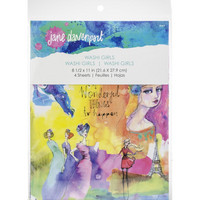 Jane Davenport - Artomology Washi Sheets, Washi Girls, 4 arkkia