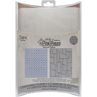 Sizzix - Texture Fades A2, Diamond Plate/Riveted Metal By Tim Holtz, Kohokuviointitasku