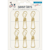 American Crafts - Maggie Holmes Sunny Days Metal Clips, Klipsisetti
