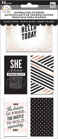 Mambi - Journaling Flip Stickers, Black & White