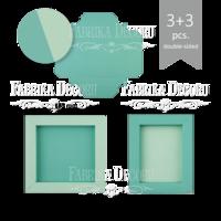 Fabrika Decoru - Kartonkikehys, koottava, valkoinen, 6kpl