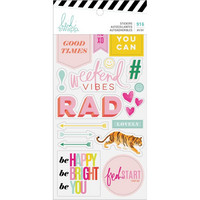 Heidi Swapp - Color Fresh Sticker Book, Tarrasetti