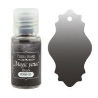 Fabrika Decoru - Magic Paint, Värijauhe, 15 ml, Black