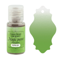 Fabrika Decoru - Magic Paint, Värijauhe, 15 ml, Pale green