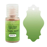 Fabrika Decoru - Magic Paint, Värijauhe, 15 ml, Yellow green