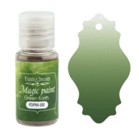 Fabrika Decoru - Magic Paint, Värijauhe, 15 ml, Green Earth