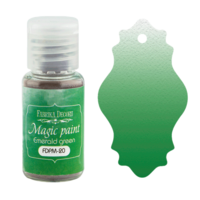 Fabrika Decoru - Magic Paint, Värijauhe, 15 ml, Emerald green