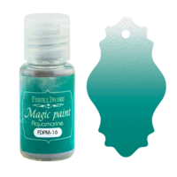 Fabrika Decoru - Magic Paint, Värijauhe, 15 ml, Aquamarine