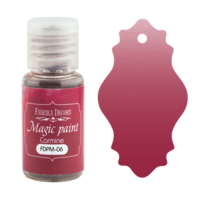 Fabrika Decoru - Magic Paint, Värijauhe,15 ml, Carmine