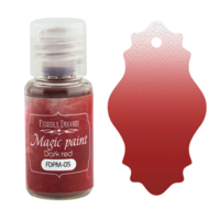 Fabrika Decoru - Magic Paint, Värijauhe,15 ml, Dark red