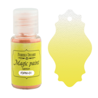 Fabrika Decoru - Magic Paint, Värijauhe,15 ml, Lemon