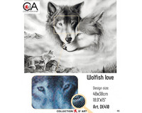 Collection D'Art - Wolfish Love, Timanttimaalaus, 48x38cm