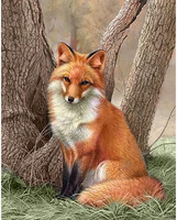 Collection D'Art - Fox, Timanttimaalaus, 38x48cm