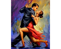 Collection D'Art - Tango, Timanttimaalaus, 38x48cm