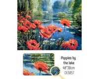Collection D'Art - Poppies By the Lake, Timanttimaalaus, 48x38cm