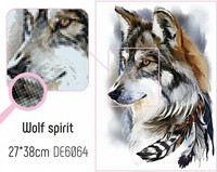 Collection D'Art - Wolf spirit, Timanttimaalaus, 27x38cm