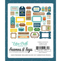 Echo Park - Summer Adventure Frames & Tags, Leikekuvia, 33 kpl