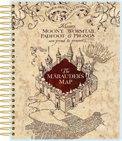 Paper House - Harry Potter 12-Month Planner, Marauder's Map (jälkiä kansissa)