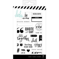 Heidi Swapp - Color Fresh Clear Stamps, Words & Icons, Leimasetti