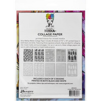 Dina Wakley Media - Collage Tissue Paper, Backgrounds, 20 arkkia