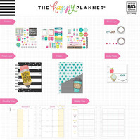 Happy Planner - CLASSIC kalenteriboxi, Teacher - Never Be Erased, 2019-2020, 12kk