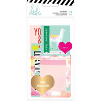 Heidi Swapp - Color Fresh Ephemera Die-Cuts, 73 osaa