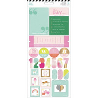 Heidi Swapp - Color Fresh Cardstock Stickers, 2 arkkia
